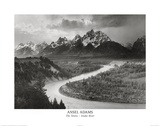 Snake River Grand Tetons Ansel Adams ART PRINT POSTER Posters