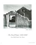 Taos Pueblo Church Ansel Adams Art Print Poster Photo