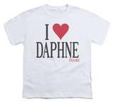 Youth: Frasier - I Heart Daphne T-shirts