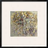 Mondrian: Composition, 1913 Framed Giclee Print by Piet Mondrian