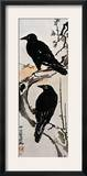 Japanese Print: Crow Framed Giclee Print by Kawanabe Kyosai