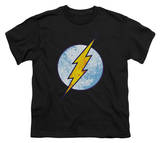 Youth: The Flash - Flash Neon Distress Logo Camisetas