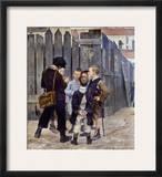 Bashkirtsev: Meeting, 1884 Framed Giclee Print by Maria Konstantinova Bashkirtseva