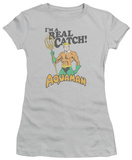 Juniors: Aquaman - Real Catch T-shirts