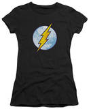 Juniors: The Flash - Flash Neon Distress Logo T-Shirt