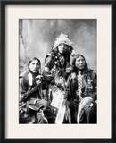 Young Sioux Men, 1899 Framed Photographic Print