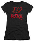 Juniors: Dexter - I Heart Dexter T-Shirt