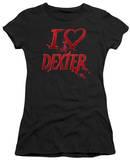 Juniors: Dexter - I Heart Dexter Shirts