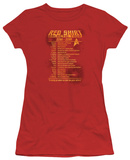 Juniors: Star Trek - Red Shirt Tour T-Shirt