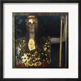Klimt: Pallas Athena, 1898 Gerahmter Giclée-Druck von Gustav Klimt
