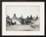 Sioux Encampment, 1891 Framed Photographic Print by John C.H. Grabill