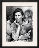 Migrant Mother, 1936. Framed Photographic Print by Dorothea Lange