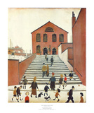 Old Church & Steps Posters av Laurence Stephen Lowry