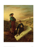 Hamlet and Horatio at the Cemetery, 1835 Giclee Print by Eugene Delacroix