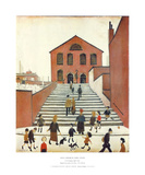 Old Church & Steps Kunstdrucke von Laurence Stephen Lowry