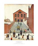 Old Church & Steps Affischer av Laurence Stephen Lowry