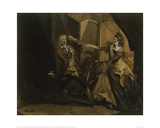 Garrick and Mrs Pritchard as MacBeth and Lady MacBeth after the Murder of King Duncan Giclee Print by Johann Heinrich Füssli