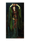 Ellen Terry in the Role of Lady MacBeth Pôsters por John Singer Sargent