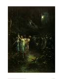 Midsummer Night's Dream Giclee Print by Gustave Doré