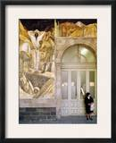 Rivera: Leaving The Mine Framed Photographic Print by Diego Rivera