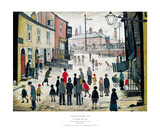 A Procession Plakater af Laurence Stephen Lowry