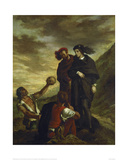 Hamlet and Horatio in the Graveyard, 1839 Affiche par Eugene Delacroix