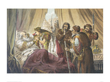 Cordelia at King Lear's Bed Giclee Print by Robert Dudley