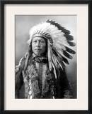 Sioux Brave, C1900 Framed Photographic Print by John Alvin Anderson