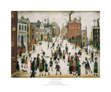 Village Square Prints by Laurence Stephen Lowry