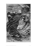 King Lear and the Fool Giclee Print by Arthur Kampf