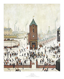 Town Centre Poster von Laurence Stephen Lowry