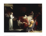 King Lear and his Three Daughters Print by William Hilton