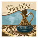 Bath Accessories II - Blue Bath Oil Giclee Print by Gregory Gorham