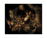 Titania's Elves Stealing the Squirrel's Hoard, c. 1854 Giclee Print by Robert Huskisson