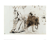 Othello and Desdemona Giclee Print by Eugene Delacroix