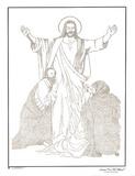 Jesus Christ Sermon on the Mount Book of Matthew Text Art Print Poster Prints