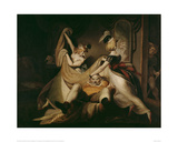 Falstaff in the Laundry Basket, 1792 Giclee Print by Johann Heinrich Füssli