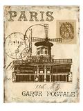 Paris Collage IV - Moulin Rouge Reproduction giclée Premium par Gregory Gorham