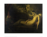 Queen Mab, 1814 (Romeo and Juliet) Wydruk giclee autor Henry Fuseli