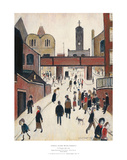 Street Scene with Viaduct Planscher av Laurence Stephen Lowry