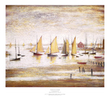Yachts at Lytham Prints by Laurence Stephen Lowry