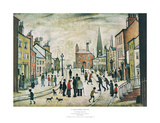 Lancashire Village Prints by Laurence Stephen Lowry