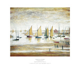 Yachts at Lytham Poster von Laurence Stephen Lowry