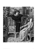 Hamlet and Ophelia, c. 1858 Giclee Print by Dante Gabriel Rossetti