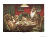 C.M. Coolidge Waterloo Dogs Playing Poker Art Print Poster Print