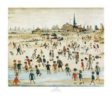 Am Strand Poster von Laurence Stephen Lowry