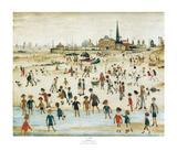 Vid stranden Poster av Laurence Stephen Lowry