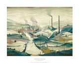 Industrial Panorama Print by Laurence Stephen Lowry