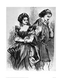 Benedick and Beatrice, 1856 (Much Ado About Nothing) Giclee Print by Daziel Brothers