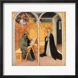 St. Catherine Of Siena Indrammet giclee-tryk af Giovanni di Paolo